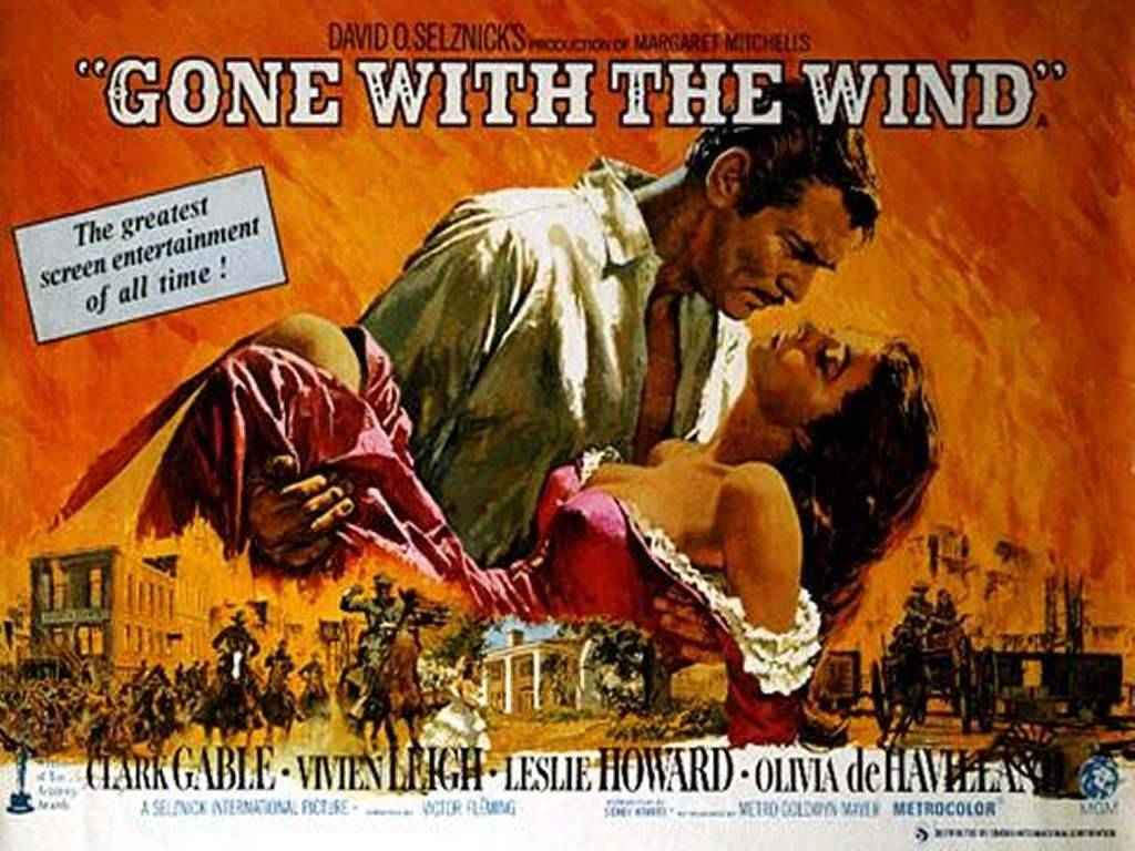"""Gone With the Wind"" - big winner at the 1939 Academy Awards"