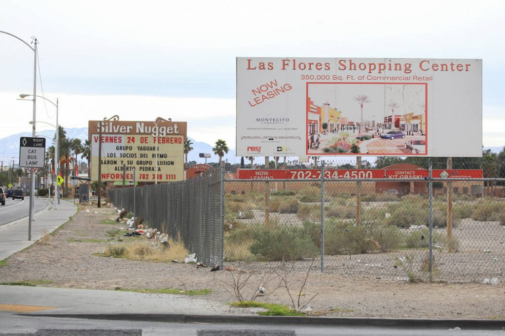 Location of the proposed Maya Cinema. (photo: Brett Le Blanc / Las Vegas Review-Journal)