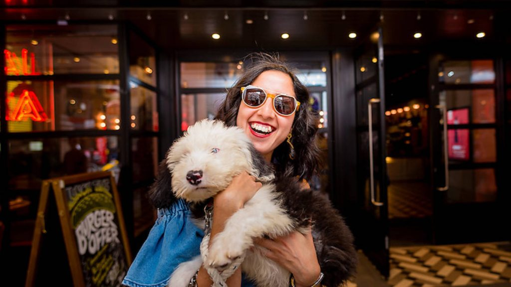 Picturehouse fan and pooch. (photo: Time Out London)