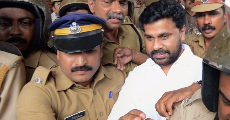 Dileep and lots of police. (photo: PTI)