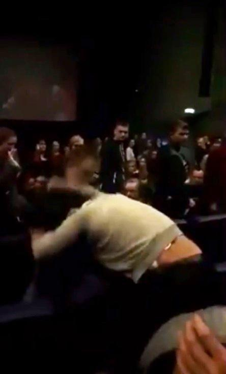 """It"" crowd fight in Russian cinema. (photo: The Sun)"