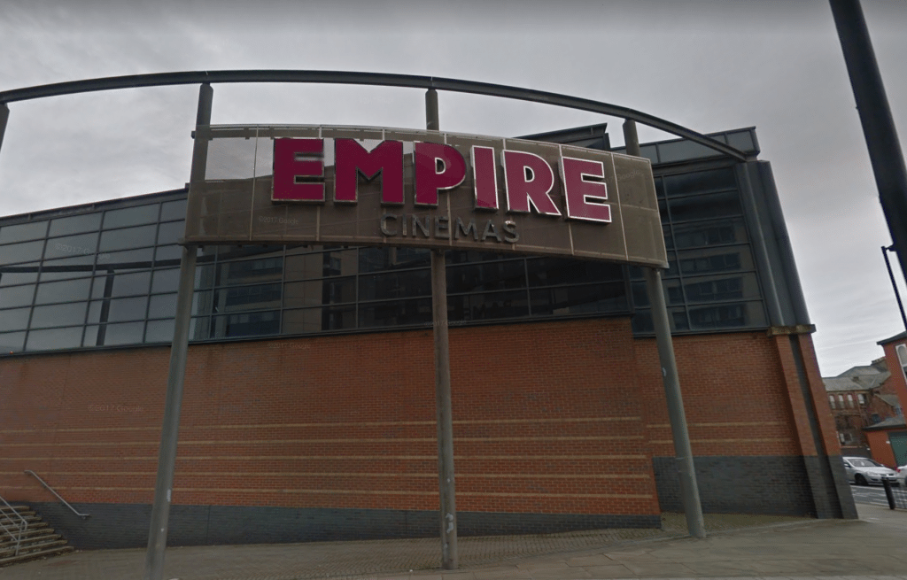Empire Cinema Sunderland - evacuated. (image: Google Earth)