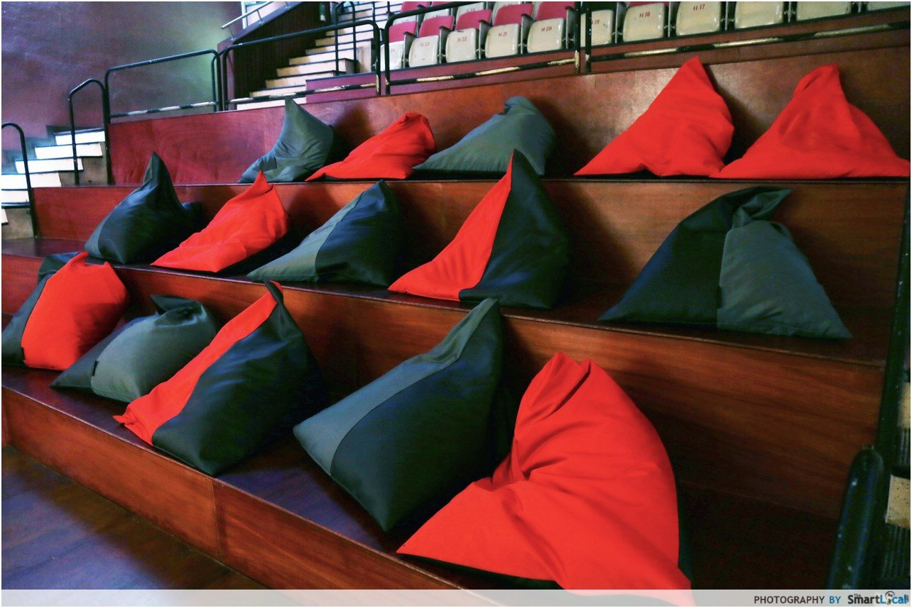 Beanbag Chairs at The Projector in Singapore