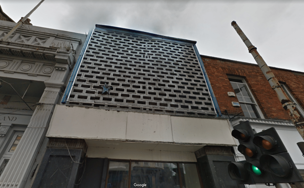 The Stella Theatre had seen better days. (image: Google Earth)