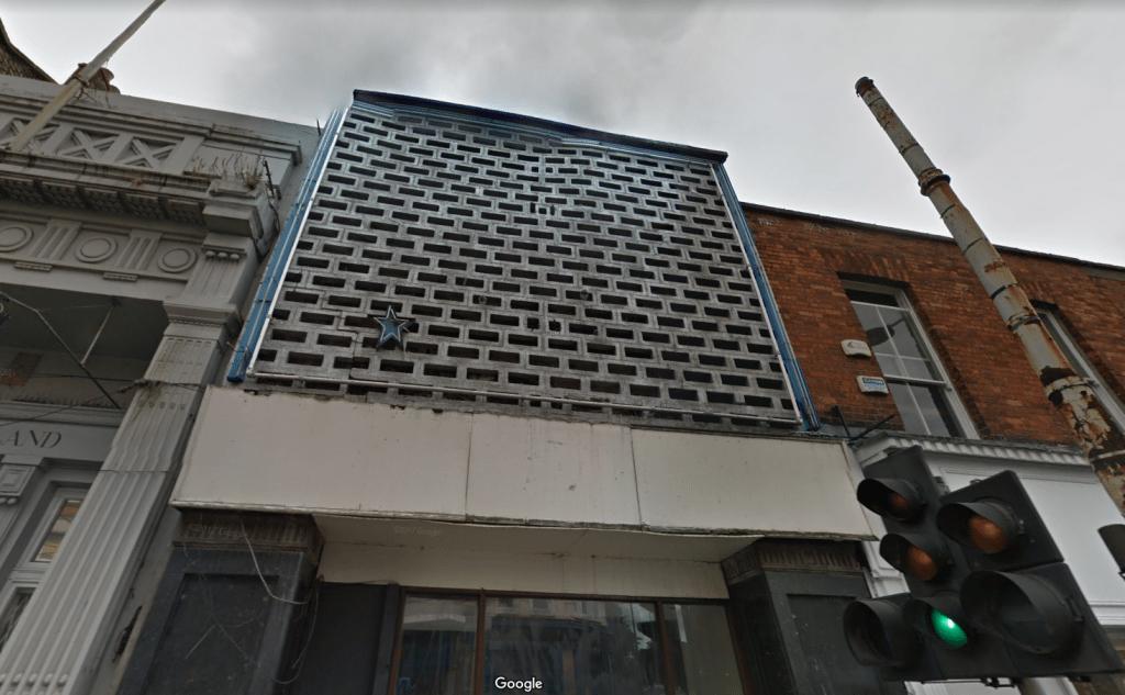 The Stella Theatre had seen better days. (image: Google Earth)