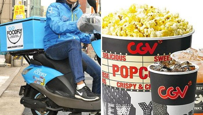 FoodFly will deliver you fresh CGV popcorn. (photos: FoodFly / CGV)