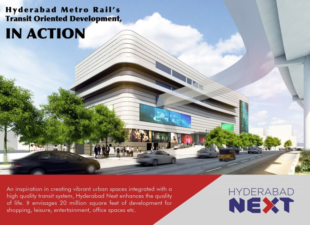 Hyderabad Next - metro, malls & movies. (image: L&T)