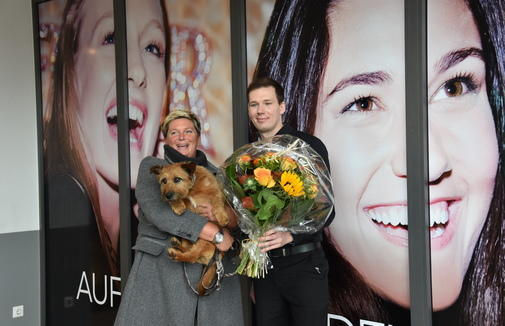 A warm welcome to the new Cinestar. (photo: Sabine Nitschke / Kieler Nachrichten)