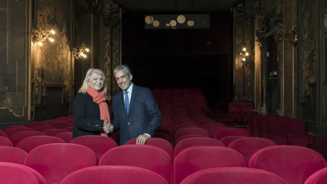 An american in Paris - Cohen with Dauchy. (photo: Luc Castel / Le Figaro)