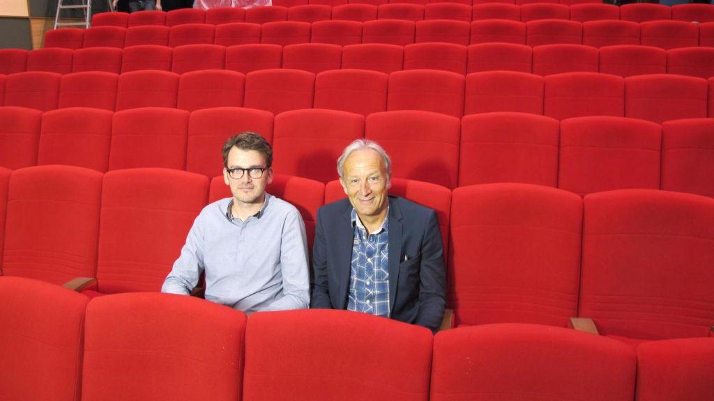 Gilbert Langlois and Romain Rousseau (left) of L'Hipposdorem parent company Tandem. (photo: LVdN)