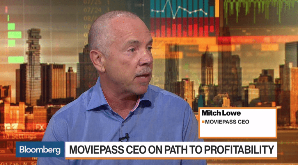 Mitch Lowe MoviePass CEO. (screenshot: Bloomberg)