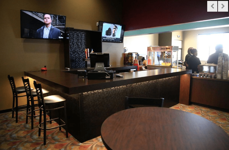 B&B Cinema 8's new bar. (photo: Tulsaworld)