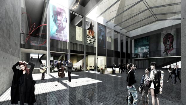 Paisley cinema plans. (image: Stallan-Brand architects)