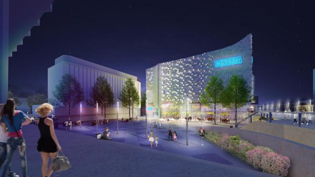 Basildon East Square cinema plan. (image: artist's impression)