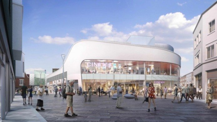 CGI of the planned Empire cinema. (image: artist's impression)