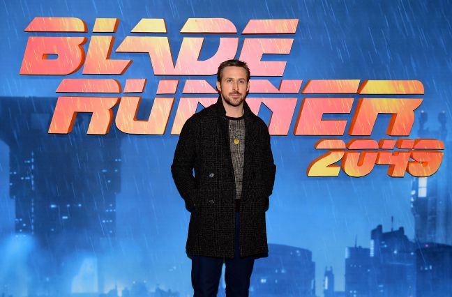 "Ryan Gosling attending ""Blade Runner 2049"" opening in London. (photo: Ian West/PA Wire)"