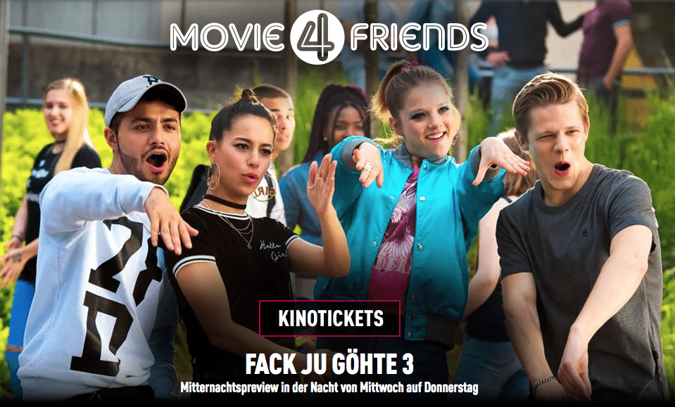 Fack Ju 3 for 4 friends. (image: Cinemaxx)