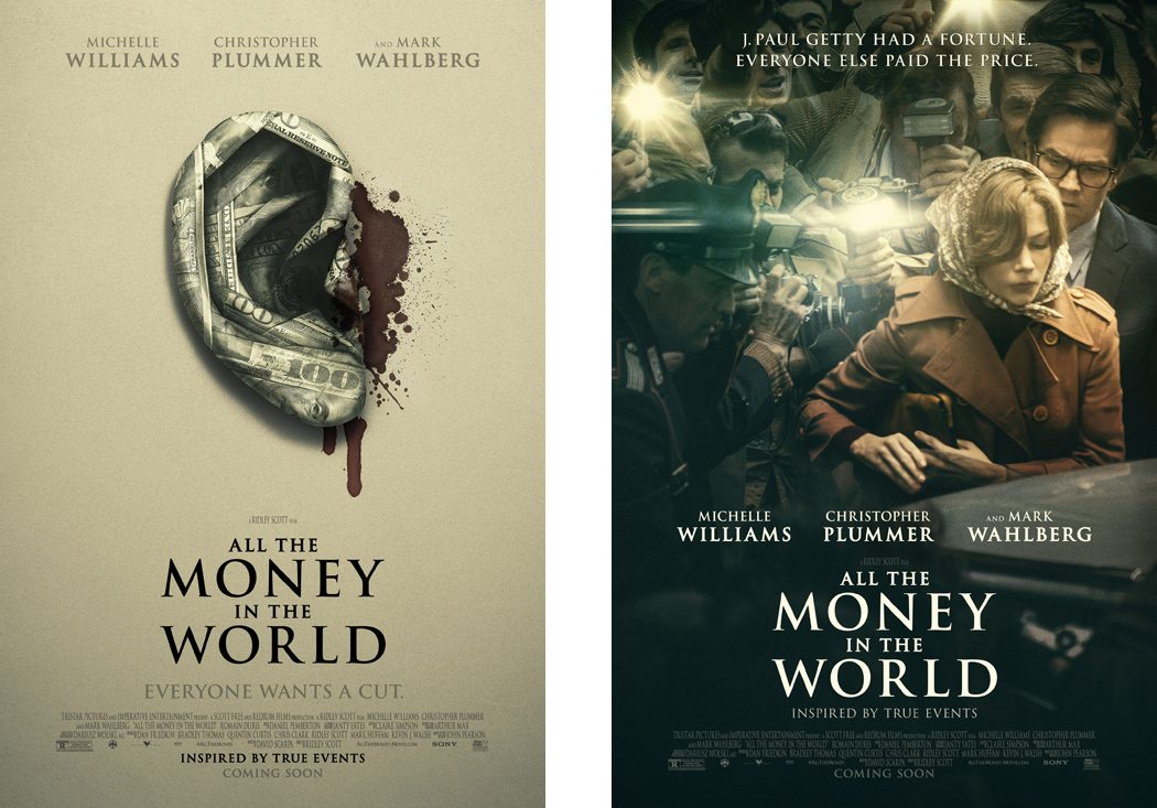 Redesigned Posters for All The Money In The World