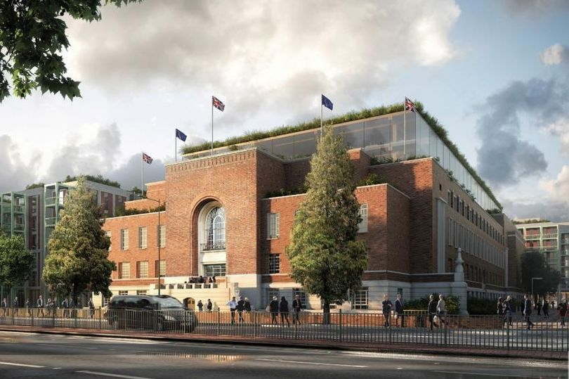 What the Hammersmith Town Hall project will look like. (image: UGC TMS)