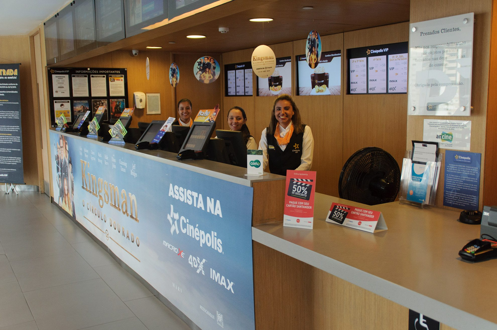 The box office at the Cinépolis JK Iguatemi in São Paulo, Brazil