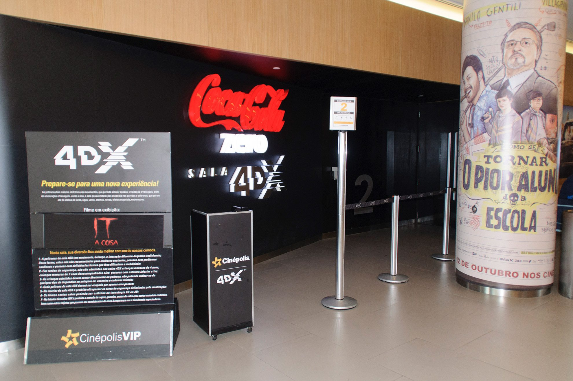 The 4DX Auditorium at the Cinépolis JK Iguatemi in São Paulo, Brazil