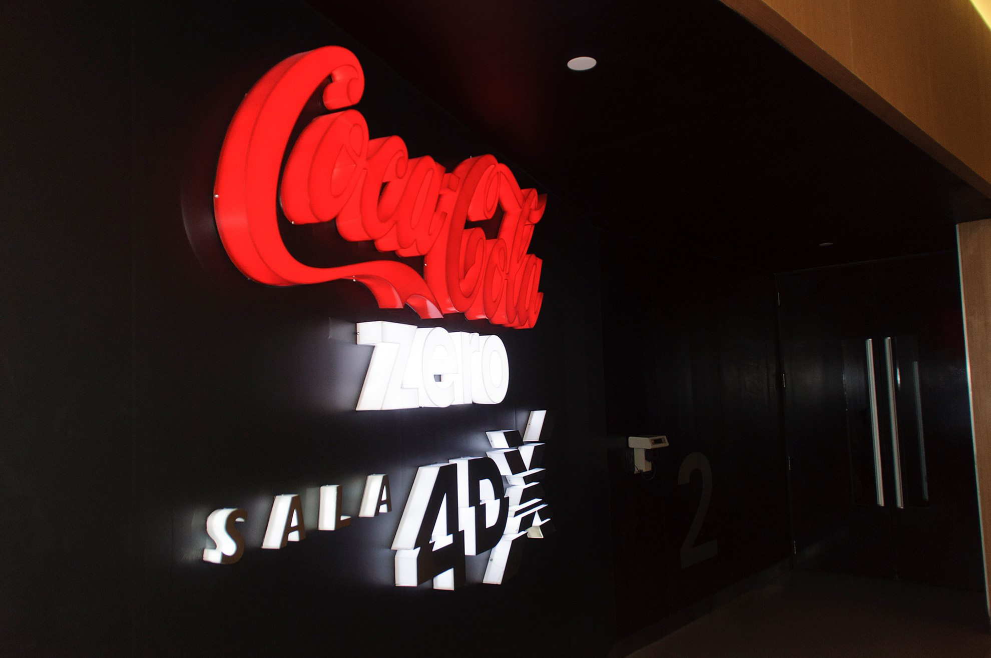 Coca-Cola Sponsors the 4DX Auditorium at the Cinépolis JK Iguatemi in São Paulo, Brazil