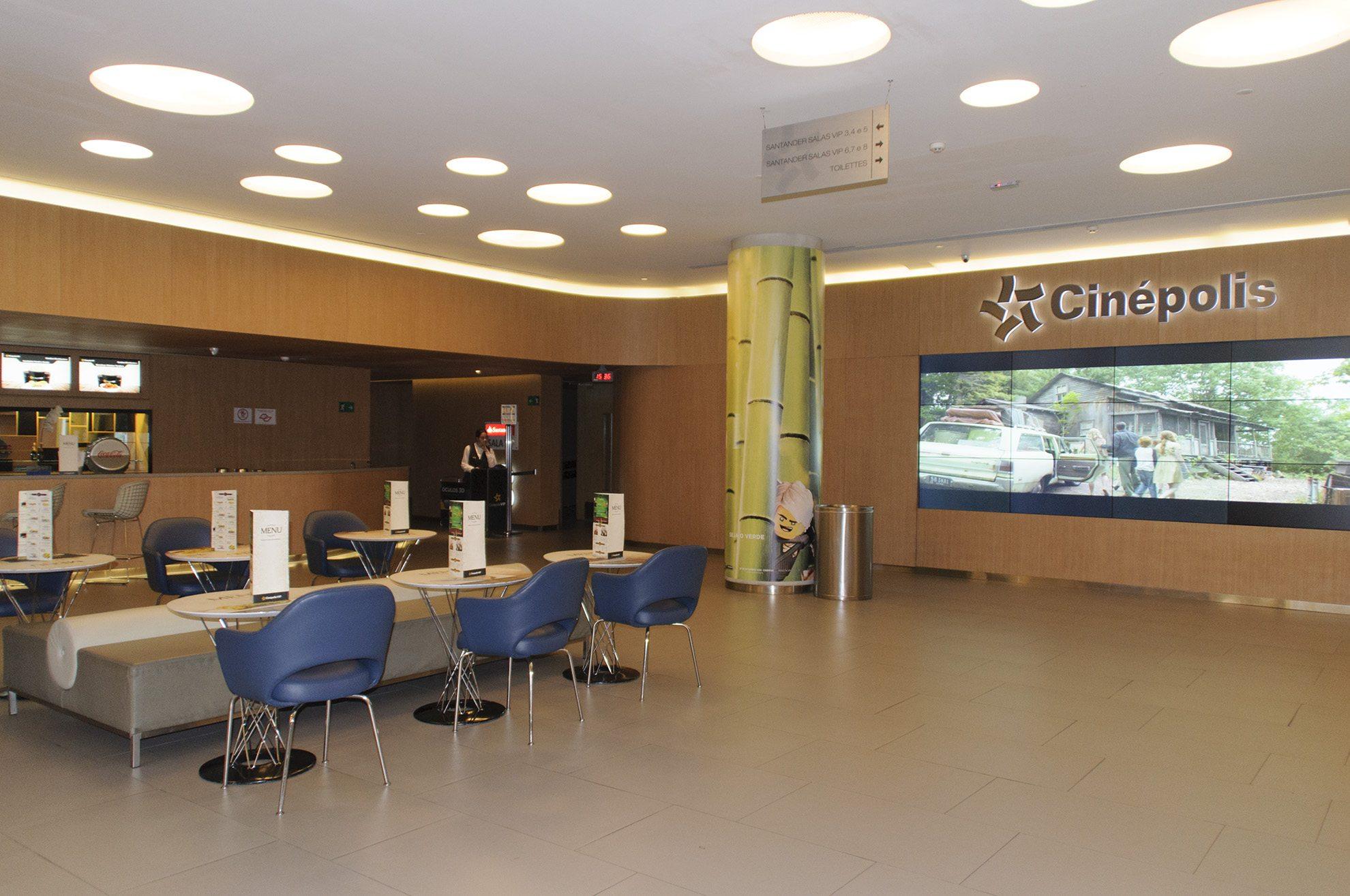 The Lobby at the Cinépolis JK Iguatemi in São Paulo, Brazil