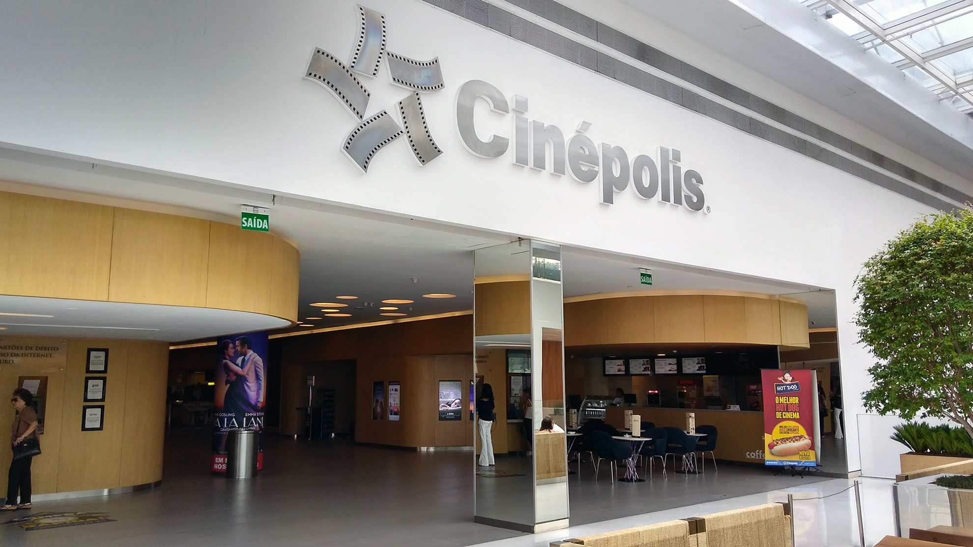 The Entrance of the Cinépolis JK Iguatemi in São Paulo, Brazil