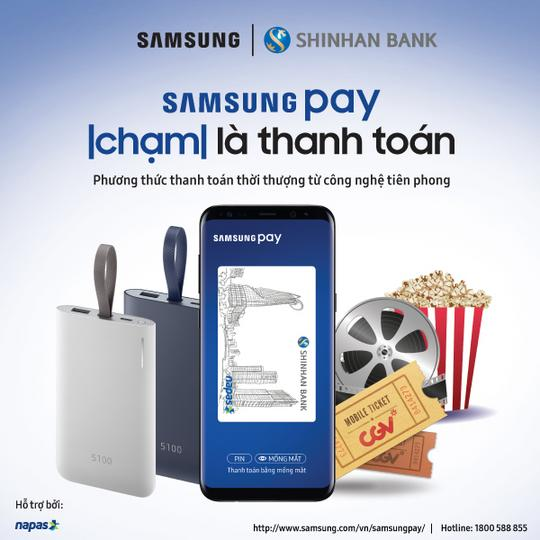 Samsung Pay and CGV - but previously only in Vietnam.