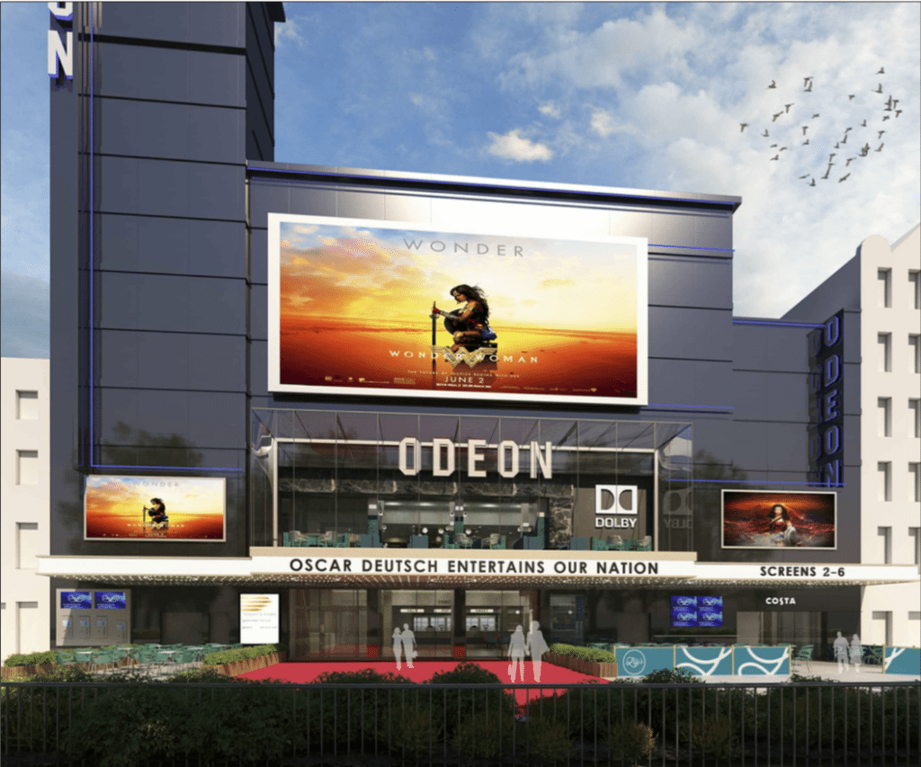 Odeon Leicester Square new frontage. (image: City of Westminster)