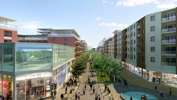 Plans for cinema and hotels at Millbay. (image: Plymouth County Council)