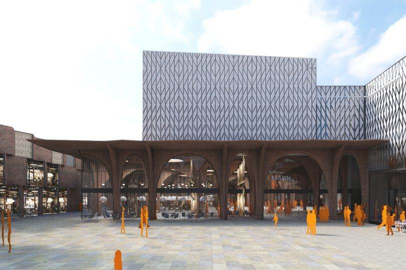 Picturehouse Chester would be on top of the markethall in the Northgate Development. (image: artist's impression)