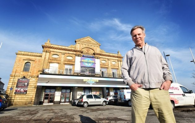Cinema director Trevor Wicks in front of the Hollywood Royalty Cinema. (photo: Antony Kelly / Great Yarmouth Mercury)