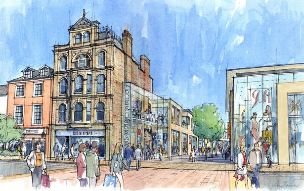 2008 plans for the Queen Street and Bear Street development. (image: artist's impression)