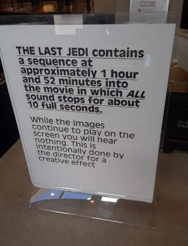 "AMC ""Star Wars"" sign in Florida AMC. (picture: Snopes)"