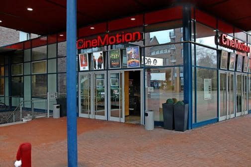 Armed robbery at CineMotion cinema. (photo: Sven Warnecke / HAZ)