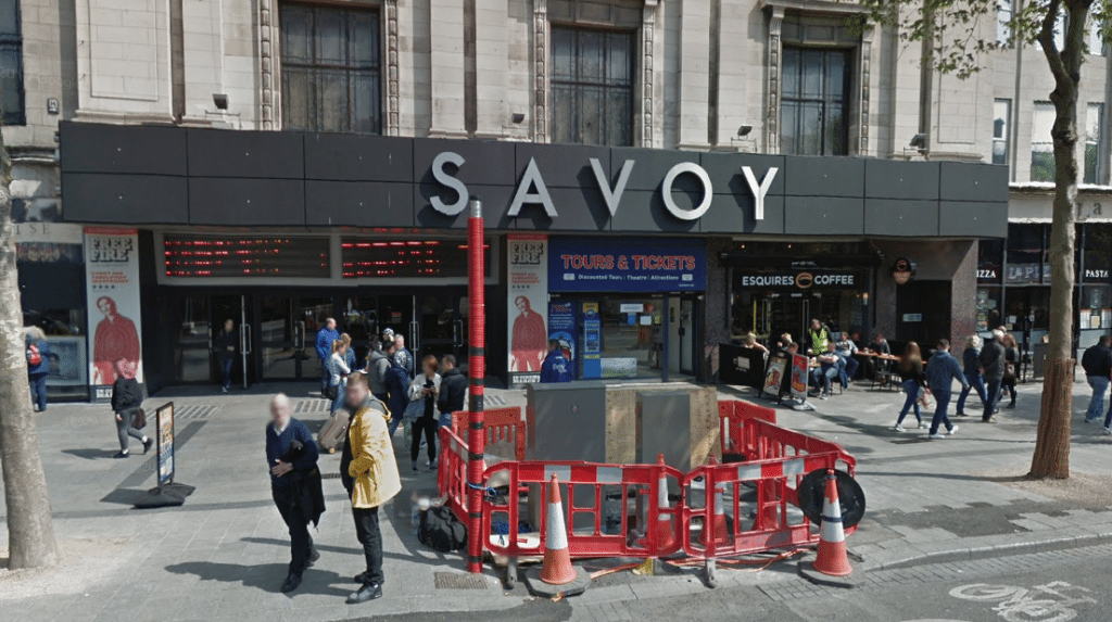 Dublin's Savoy - work going on. (image: Google Earth)