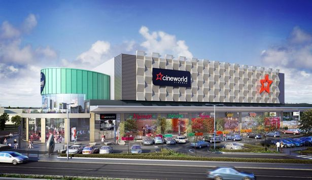 Cineworld plans for New Retail Park in Speke. (image: artist's impression)