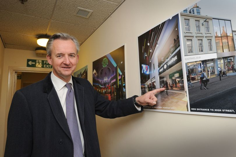 PJ Leggate's Graham Hamilton with the big new plans (photo: Ayrshire Post)