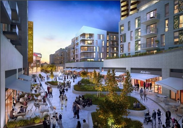 The Hounslow development includes a multiplex, shops and restaurants (Image: Barratts Homes)