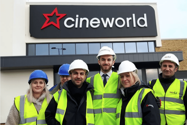 The team behind Cineworld Dover. (photo: Kent Online)