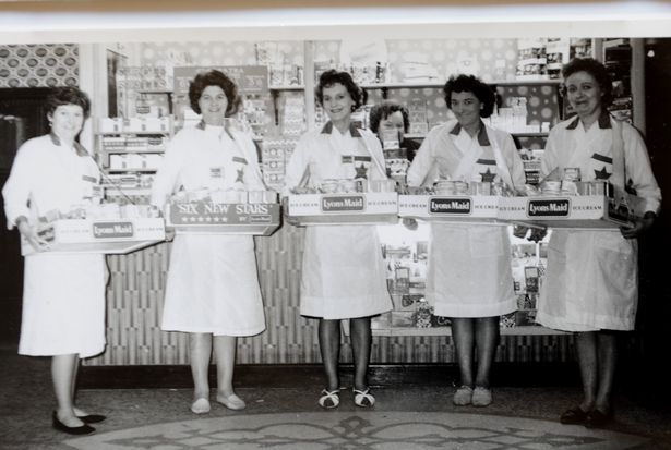 Annie Garner, pictured (second from left) when she worked at the Majestic cinema in Scunthorpe. (image: Scunthorpe Telegraph)
