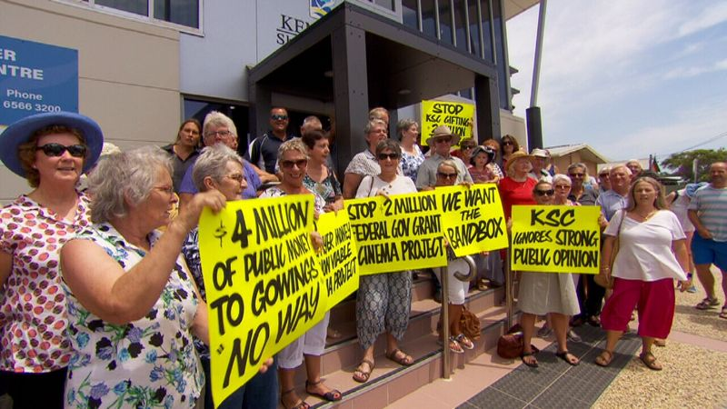 Objections to tax money spent on cinema. (photo: 9news)