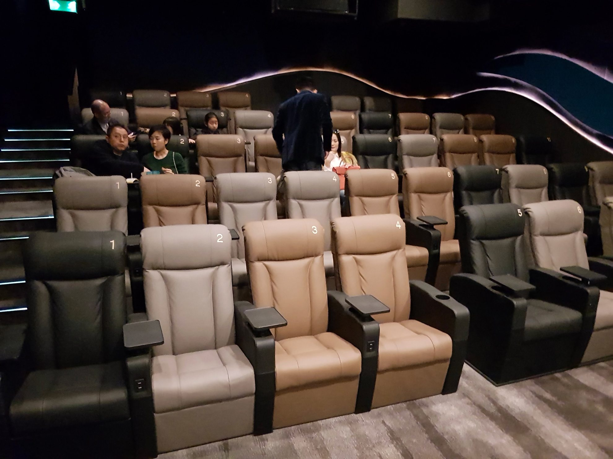 Auditorium at Emperor Cinemas in Hong Kong