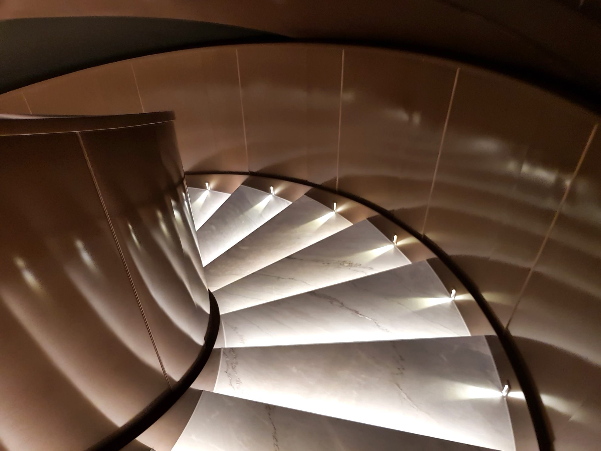 Spiral Staircase at the Emperor Cinemas in Hong Kong