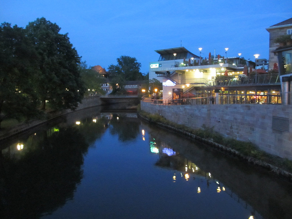 Cinecittà next to the Pegnitz River in Nuremberg, Germany