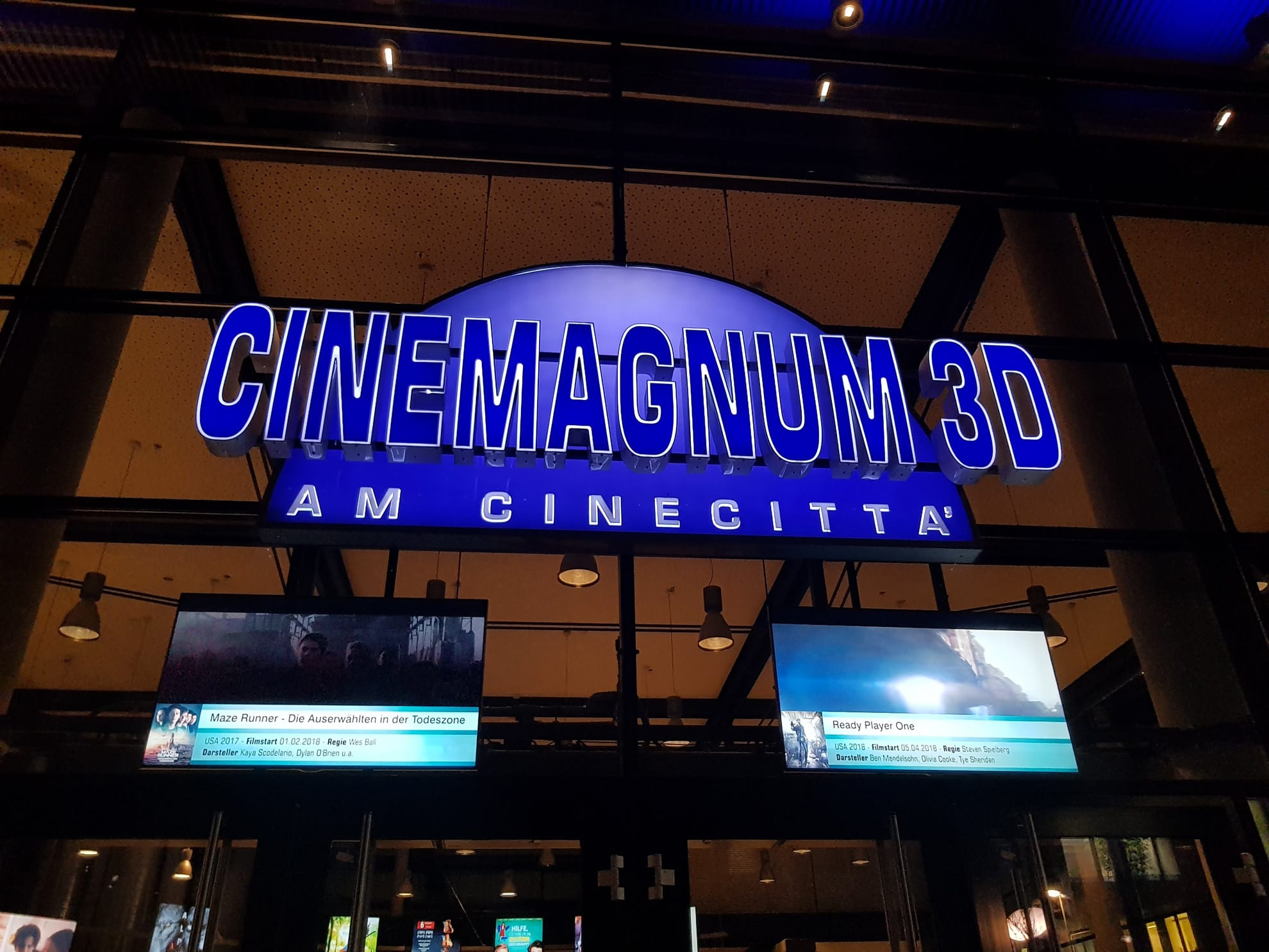 Cinemagnum Entrance at the Cinecittà in Nuremberg, Germany