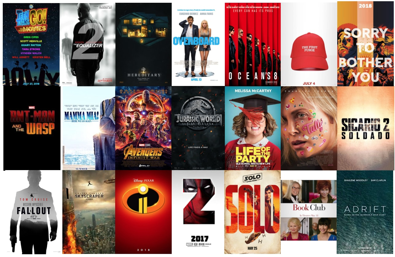 Summer Movies 2018 Posters