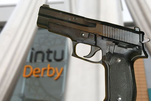 Weapon photographed at Into Derby Showcase cinema. (photo: Andrew Sanderson / Derby Telegraph)