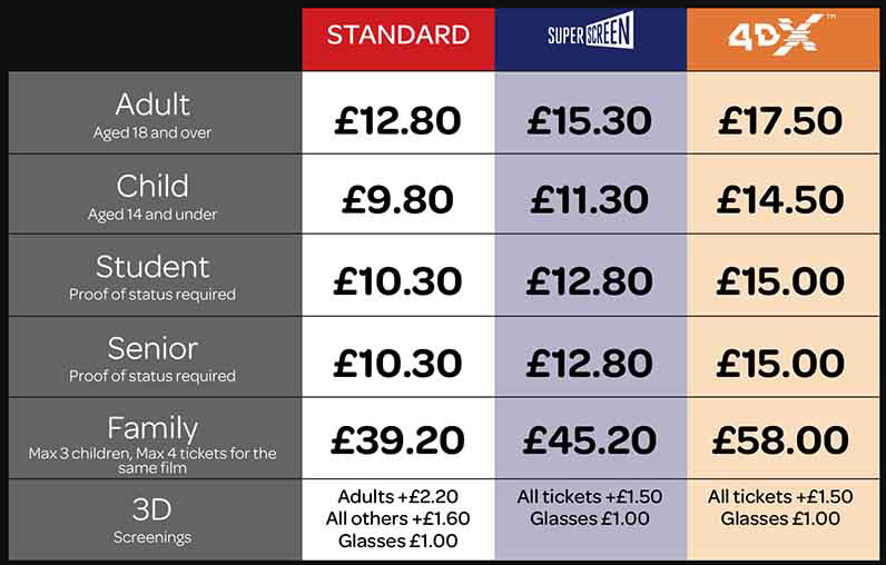 Cineworld Wandsworth Pricing